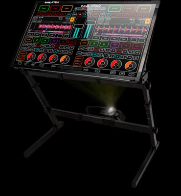 emulator dvs 42´con ordenador y flechase