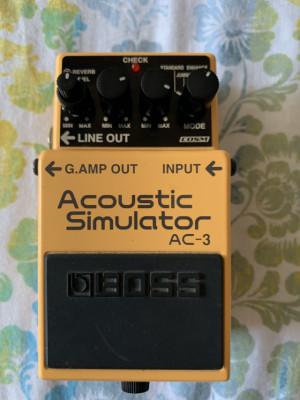 Boss AC-3  acoustic simulator o cambio por pedal compresor o wah.
