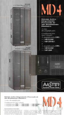 Equipo de sonido profesional procesado de 7200w RMS Master Audio