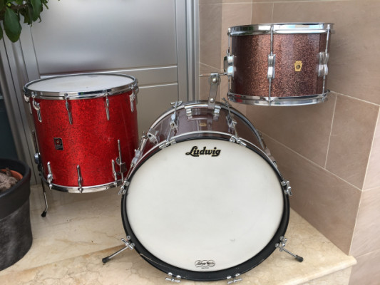 Ludwig Club date Burgundy+Floor tom Premier 1960´s