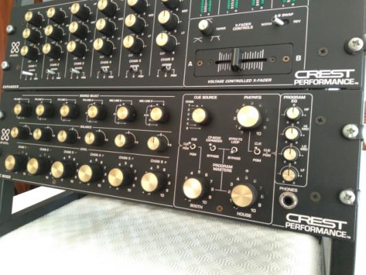 Mesa de mezclas rotary de DJ Crest CP-6210 + Expansor CP-6220