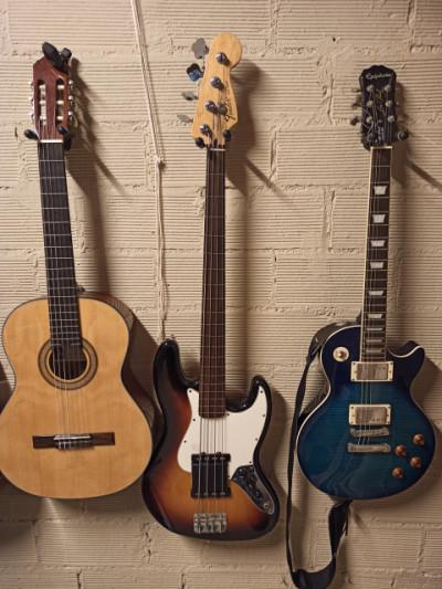 Vendo o cambio Jazz Bass Fretless Mejicano