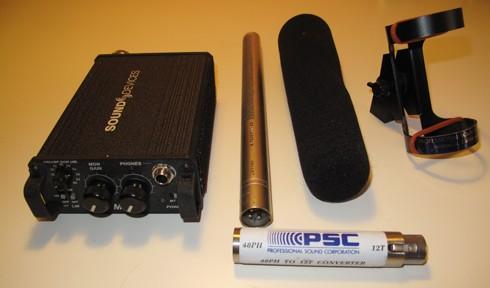 Sennheiser MKH 416-T Power, Sound Devices MM1, PSC T Power Adapter