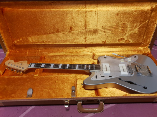 Jazzmaster Thinline Handmade Inca Silver Relic
