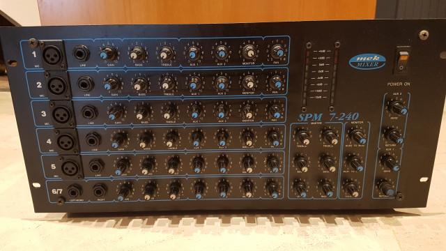 MEK Mixer SPM-240 Stereo 2x120W