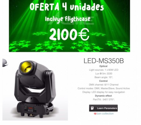 Cabezas 60 w led acme
