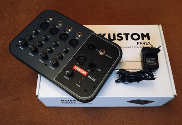 KUSTOM PA4EX mezclador 4 canales