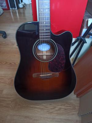 Guitarra Electro Acústica Ibanez AW4000CE-BS Tapa sólida