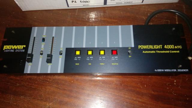 Modulador Secuencial Sicodélico Luces 4 CH. POWERLIGHT 4000 ATC
