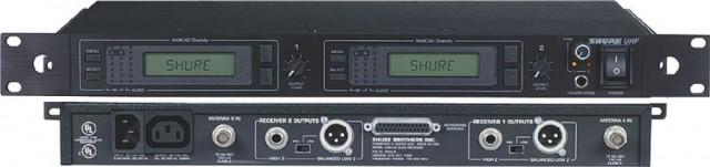 Inalambrico Shure UHF U4D Dual + sus 2 petacas