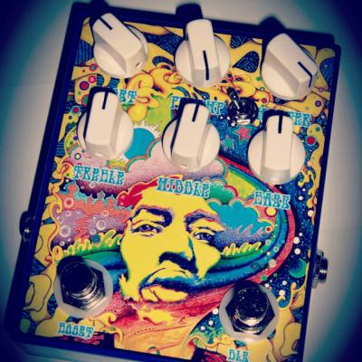 "Vendo clones de Catalinbread Dirty Little Secret III + Zvex ""SHO"" boost en un solo pedal"
