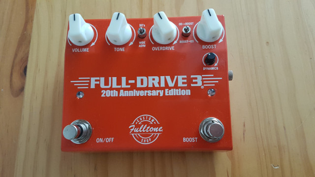 Fulltone Fulldrive 3 20th Anniversary Custom Shop