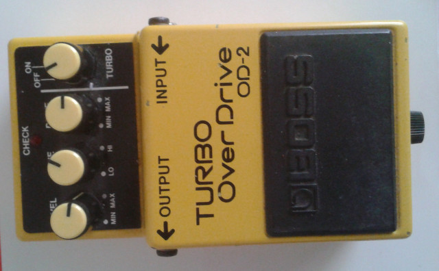 PEDAL TURBO OVERDRIVE BOSS OD-2, ENVÍO INCLUIDO