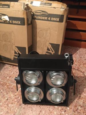 2 cegadoras DMX showtec 4 x 650 watios, envío incluido