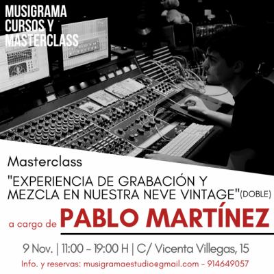 MASTERCLASS GRABACIÓN Y MEZCLA en consola NEVE / Madrid 9 Nov.