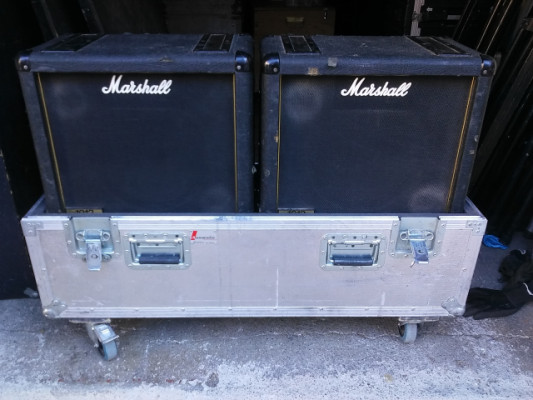 2 Marshall 1912 + flight case por Fender Engl 4x12