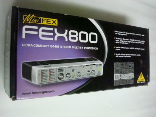 PROCESADOR EFECTOS BEHRINGER FEX 800