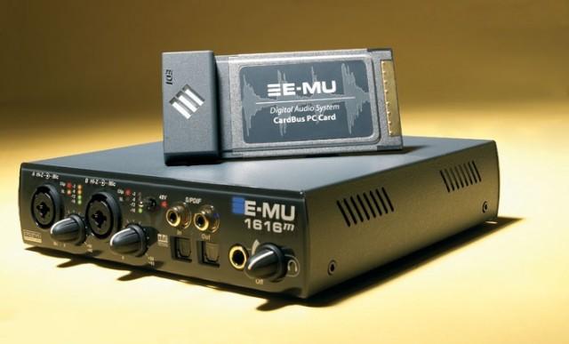 E-MU 1616M Cardbus paquete completo