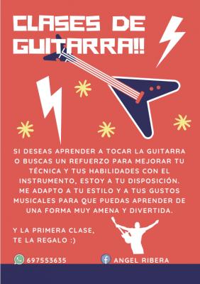 Clases de guitarra en Madrid capital / online