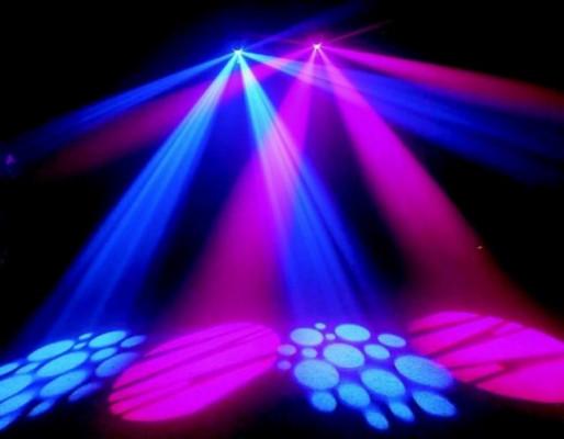 2 Efectos de luz scanner de prisma dmx 250w