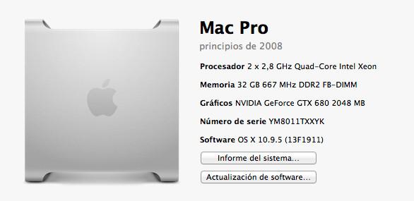 Pepino de Mac Pro 3.1