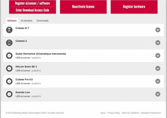 Cubase Pro 9.5+Nuendo live+eLicenser+Regalos