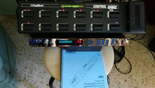 Digitech Valve FX + Pedalera Control One