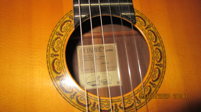 Guitarra clásica de concierto J. Farré