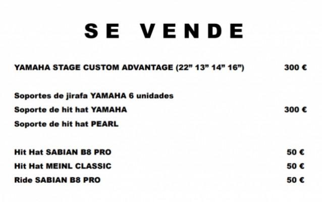 Se Vende Bateria Acustica Yamaha Advantage