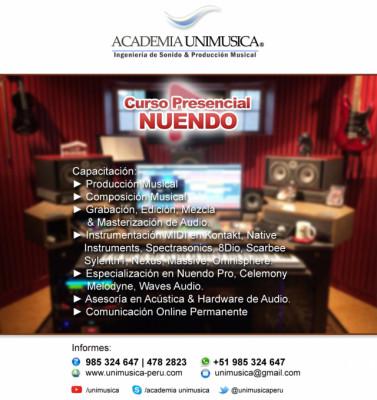 Curso de Producción Musical en Nuendo Pro