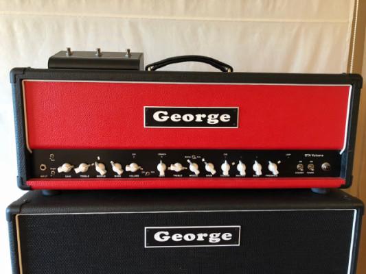 George Vulcano cabezal, altavoz y flight cases.
