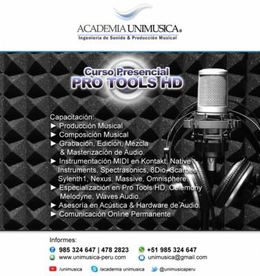 Curso de Producción Musical en Pro Tools HD