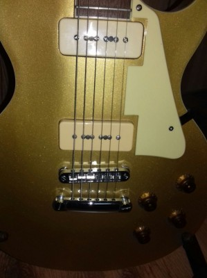 Guitarra tipo Les Paul Gold Top