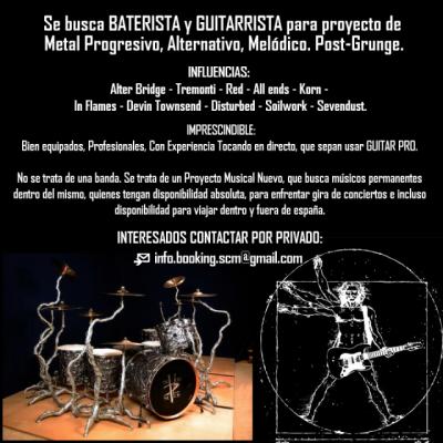 BUSCO BATERISTA para proyecto METAL PROGRESIVO