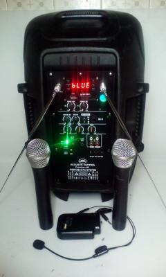 altavoz autoamplificado 3 micros(1 diadema)+ mando