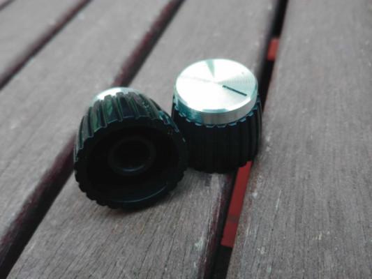 Botones de potenciómetro Marshall de todas las épocas, tipos y colores...
