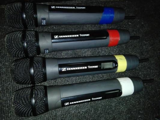 4 Microfonos inalambricos SENNHEISER EM-1-C