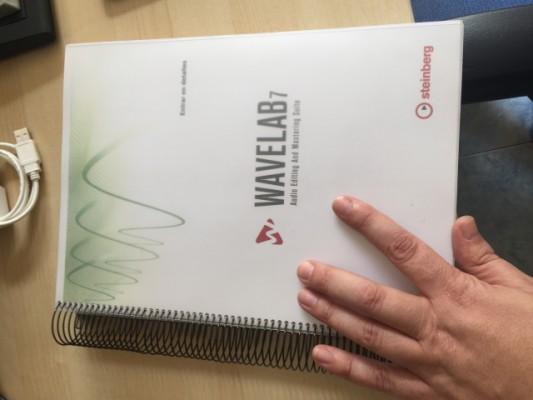 Manual impreso de Wavelab 7