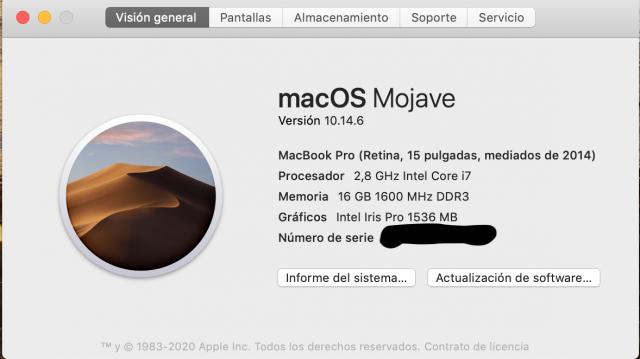 "MacBook Pro 15"" 2014 i7 2,8Ghz,16GbRam,1Tssd"