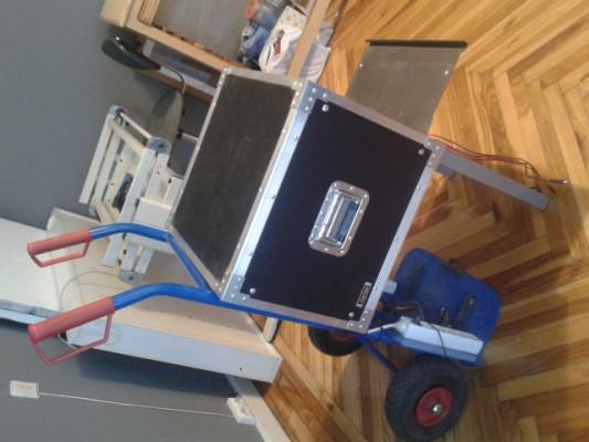 Carro + fuente de alimentación de sonido de rodaje