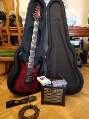 Guitarra cort x-11 y amplificador roland microcube gx