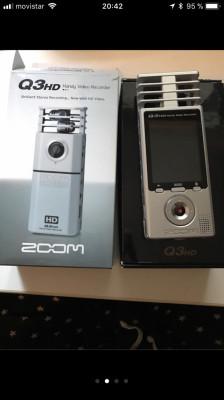 Camara vídeo grabadora Zoom q3 hd + pack accesorios
