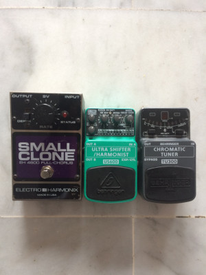Small clone + behringer ultra shifter + behringer tuner