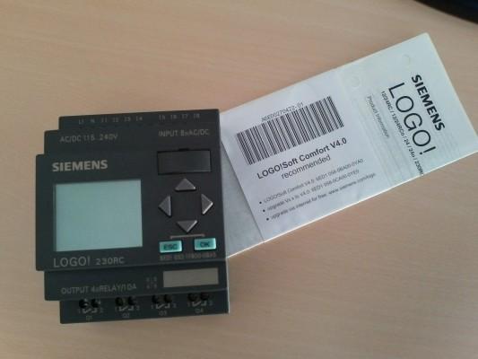 Autómata Siemens LOGO! 230RC MÓDULO 8E/4S (Nuevo nunca instalado)