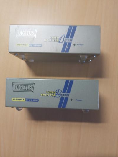 DUPLICADOR VGA 2 Video Spliter de 2 y 4 salidas
