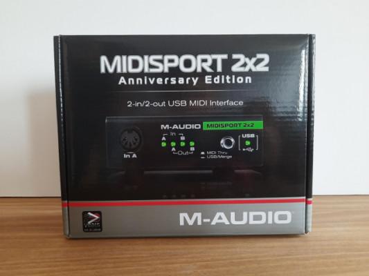 Interfaz Midi 2x2 Midiman M-Audio