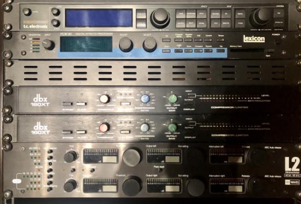 Waves L2 hardware, Lexicon PCM 80, TC GMajor
