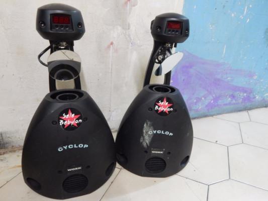 Scaner Work Cyclop DMX descarga 150W (2 Uds.) + 2 Lámparas nuevas