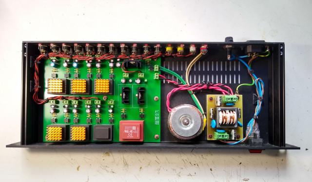 Prototipo fuente alimentación en rack