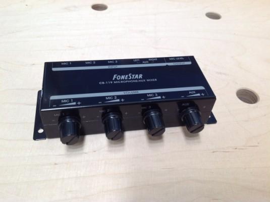 Mezclador pasivo de 3 microfonos Fonestar